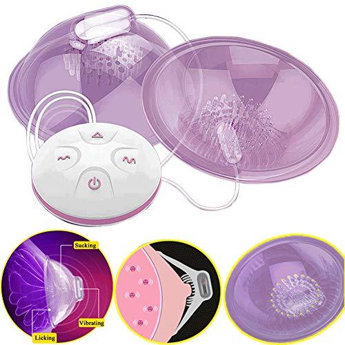 10 Frequenzvibration Nippel-Vibrator-Stimulator Zunge lecken Brustmassagegerät Pump Sex Toys für Frau
