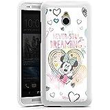 HTC One mini Silikon Hülle Case Schutzhülle Disney Minnie Mouse Fanartikel Geschenke