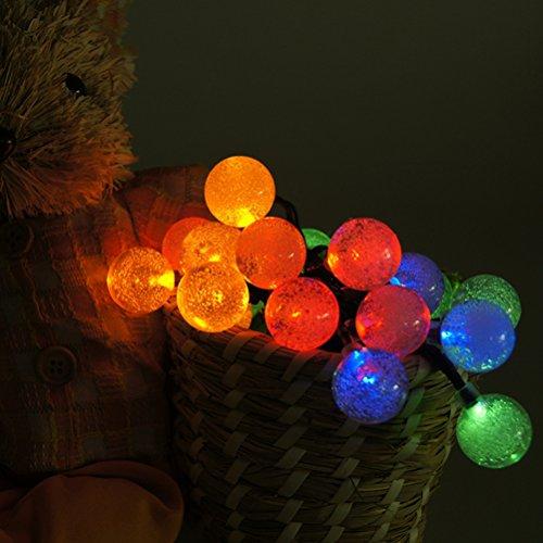 LEDMOMO Solar-LED-Bälle Lichterketten für Gartenhaus Landschaftsschmuck (bunt)