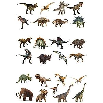 Dinosaurier Real Mix 12 essbare hochwertige stehende Waffeln Karte Kuchen Topp
