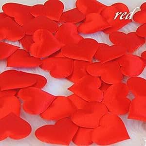 100 petali a forma di Cuore Rosso Amore spugna per Bouquet sposa Wedding Composizione artificiale, per decorazione per feste