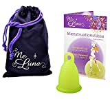 Me Luna Menstruationstasse Classic, Ring, Grün, Größe S