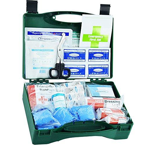 90 Stück Premium Erste-Hilfe-Set inklusive Brennen Gel Dressings, Wiederbelebung Face Shield, Notfall Folie Decke und robust Schnitt Scheren (BSI klein) -