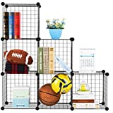 House of Quirk Stainless Steel Storage Cubes Organizer, Black (6CUBE_Iron_CAB)