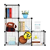 #9: DIY Closet Cabinet by House of Quirk Metal Wire Storage Cubes Organizer (35x35 per Cube Size)