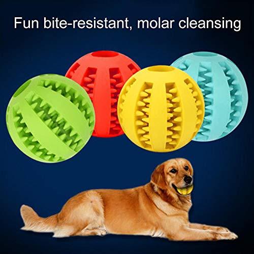 mothcattl Pet Dog Backenzähne Gummiball Elastischer, bissfester Gummiball, Training eines Wachpartners Blau