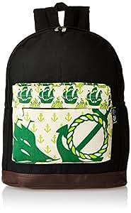 Kanvas Katha Canvas Black Casual Backpack (KKBPN001B)