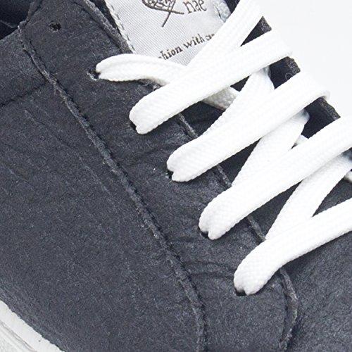 NAE Basic Schwarz – vegane Sneaker aus Ananas-Blattfasern – unisex - 4