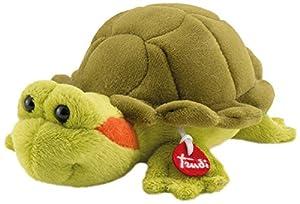 Trudi-51249 Peluche Mini Color Verde, Naranja 15 cm (51249