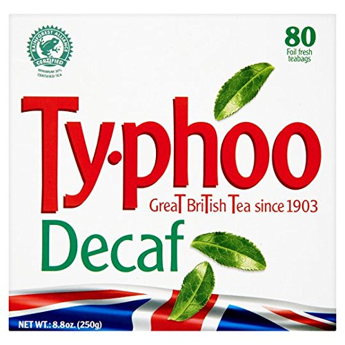 Typhoo Decaffeinated 80 Teabags 250G