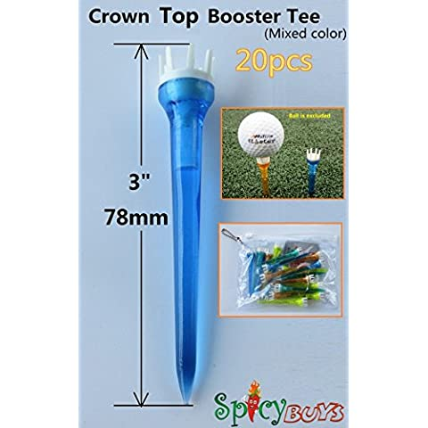 20pcs spicybuys Golf Corona Top Booster Tee 3