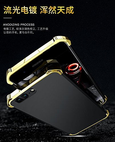 YHUISEN OnePlus 5 Case, Fashion 3 in 1 Heavy Duty High Impact Matte Plating Shockproof Anti-Drop PC Harte Schutzhülle für OnePlus 5 ( Color : Black Red ) Red Gold