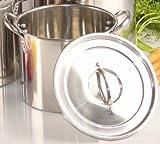 Buckingham stainless steel stock pot, 9 in, capacity: 7 quarts