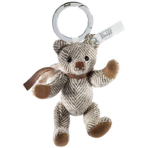 Steiff-Selection-025877-Key-Ring-Wool-Teddy-bear-caf-au-lait-Enchanted-Forest