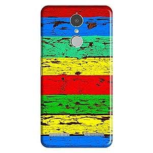 Bhishoom Designer Printed Back Case Cover for Lenovo K6 Note (Wooden :: Colored Wood :: Rugged :: Stripes :: Texture)
