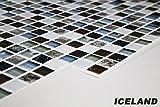 1 PVC Dekorplatte Mosaic Wandverkleidung Platten Wand 95x48cm, ICELAND