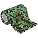 12 Premium Haftbandagen, selbsthaftende elastische Bandagen, Größe+Farbe wählbar, Größe:10cm, Farbe:camouflage green