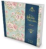 GOCKLER® 3 Jahres Kalender: 190+ Seiten Journal für 3 Jahre || Glänzendes Softcover || Ideal als Tagebuch, Notizkalender, Aufgabenplaner oder Erfolgsjournal || DesignArt.: Retro Flowers