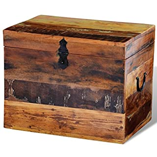 Anself Reclaimed Solid Wood Storage Box