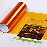 Sedeta orange brillant Autocollants de film de changement de couleur de lumière de queue de voiture de 15''x24'' Wrap Tint Feuille décoration bricolage