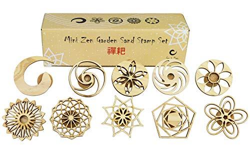 Mini Zen Garten Sand Stempel Set, Set von 10 Marken