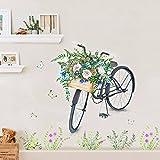 HCCY Nórdico minimalista creativo papel para pared de bicicletas salón dormitorio las habitaciones son cálidas y pared de fondo pinturas decoran el wallpaper autoadhesivo 110*85cm,b pósters)