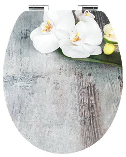 Cornat WC-Sitz Art of Acryl ORCHIS / Toilettensitz / Toilettendeckel / Klodeckel / WC-Deckel / Absenkautomatik / Holzkern (MDF) / KSDSC309