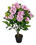 Homescapes Kunstpflanze Kunstblume Pinke Hortensie im Topf 70 cm hoch