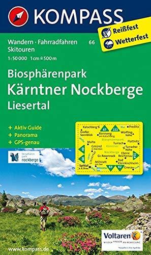 KOMPASS Wanderkarte Biosphärenpark Kärntner Nockberge - Liesertal: Wanderkarte mit Aktiv Guide, Panorama, Radwegen und Skitouren. GPS-genau. 1:50000: ... 1:50 000 (KOMPASS-Wanderkarten, Band 66)
