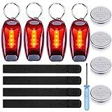 Goldge 4X LED-Sicherheitslicht für Nacht Laufen mit Clip und Klettband