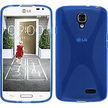 Funda de silicona para LG F70 - X-Style azul - Cover PhoneNatic Cubierta + protector de pantalla