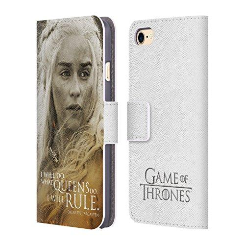 Offizielle HBO Game Of Thrones Jon Snow Character Portraits Brieftasche Handyhülle aus Leder für Apple iPhone 6 Plus / 6s Plus Daenerys Targaryen