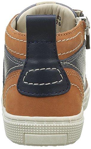 Aster Charly, Baskets Hautes Garçon Bleu (Marine Camel)