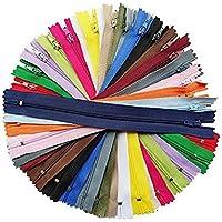 Chenkou Craft Lot de 60fermetures éclair en nylon 20coloris Longueur 23,5cm