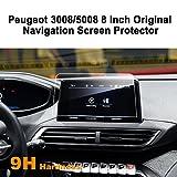 LFOTPP Peugeot 3008 / 5008 / GT 8 Zoll Navigation Schutzfolie - 9H Kratzfest Anti-Fingerprint Panzerglas Displayschutzfolie GPS Navi Folie