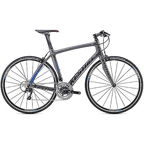 2016Kestrel rt-1000Barra piatta Shimano 10562cm 3065271662satinato grigio/blu