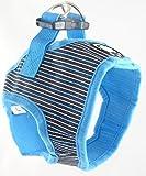 Kija Brustgeschirr mit Leine und/Autosicherheitsgurt gratis/Brustumfang 45-46 cm, Länge 18 cm, sicheres und Weiches Geschirr, angenehm zu Tragen