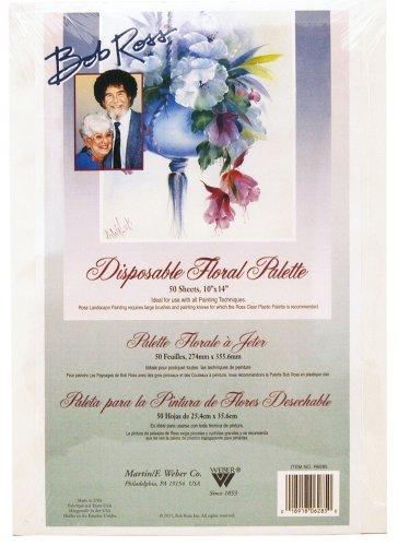Bob Ross Einweg-floral Abreiß-Palette 10 X 14