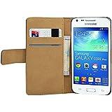 Membrane - Noir Portefeuille �tui Coque Samsung Galaxy Core Plus (GT-G3500 / SM-G350 / G3502) - Flip Case Cover Housse