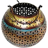 Mewar Arts And Design Iron Round Shape Hanging Candle Holder (15 Cm X 15 Cm X 15 Cm)