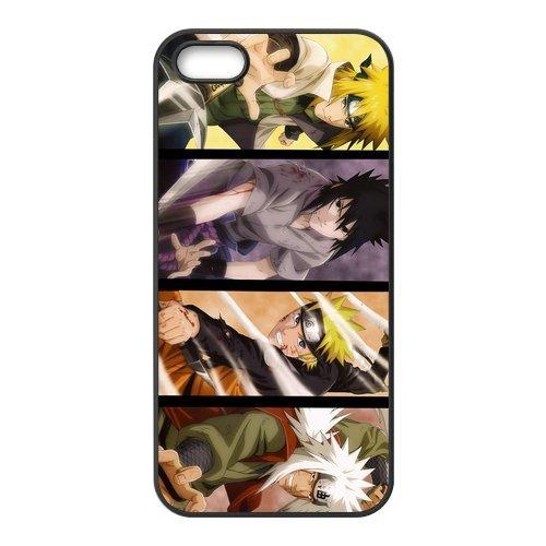 Naruto Design Durable TPU Coque de protection Case Cover Coque de Protection pour Apple iPhone 55S, iPhone 5, iPhone 5, iPhone 55S Coque de protection Case (Blanc/Noir)