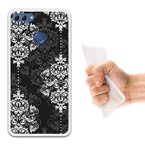 Damaskus, 8 (WoowCase Huawei Y9 2018 - Enjoy 8 Plus Hülle, Handyhülle Silikon für [ Huawei Y9 2018 - Enjoy 8 Plus ] Damaskus Luxusmuster Handytasche Handy Cover Case Schutzhülle Flexible TPU - Transparent)