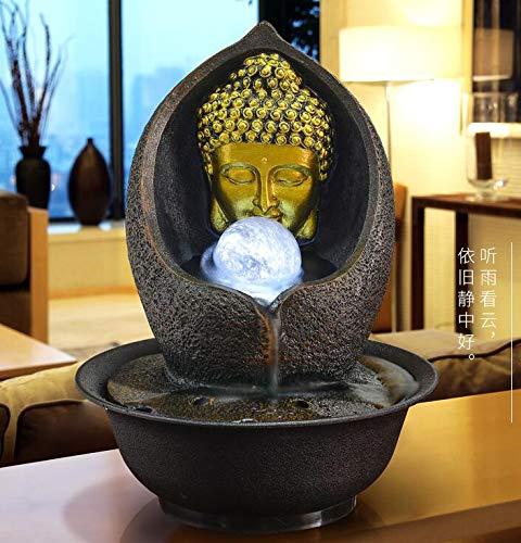 Desktop Brunnen Dekoration Wasser Brunnen Feng Shui Ball Rad Wohnzimmer Luftbefeuchter Südostasien Hause Buddha Statue Wasser Landschaft Zen