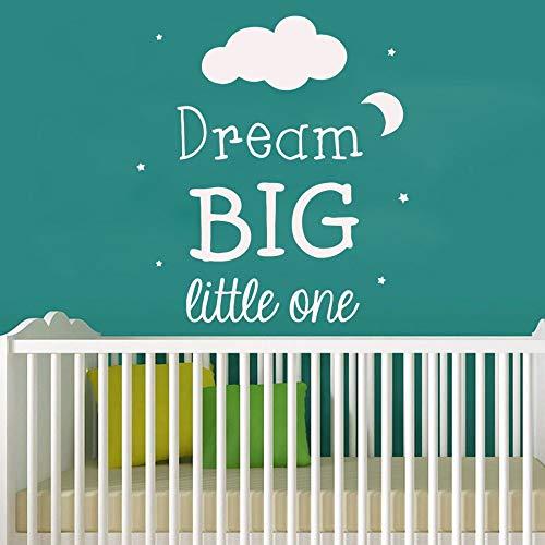 zxddzl Schöne Traum große wohnkultur wandaufkleber für Wohnzimmer kinderzimmer Aufkleber mural-70x56cm