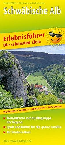 Schwäbische Alb: Erlebnisführer mit Informationen zu Freizeiteinrichtungen auf der Kartenrückseite, wetterfest, reißfest, GPS-genau. 1:170000 (Erlebnisführer / EF)