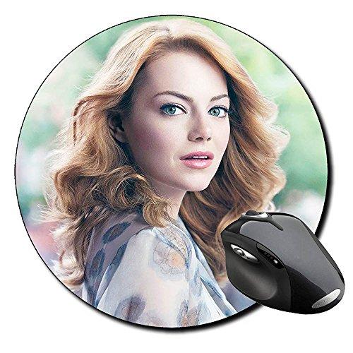Emma Stone Tappetino rotondo Round Mousepad PC