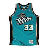 Mitchell & Ness Grant Hill # 33Detroit Pistons 1998–99Swingman NBA Camiseta Turquesa, S