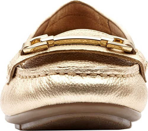 Vionic Sportschuh Damen Kenia Loafer Schuhe Gold Tumbled Leather