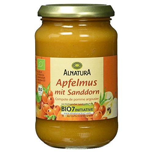 Alnatura Bio Apfelmus mit Sanddorn, 360 g