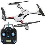 kingtoys® RC aviones no tripulados JJRC H31 impermeable Modo sin cabeza 360 ° Actuación móvil 3D CF Una tecla Retorno 2.4G 4CH RC Quadcopter 6Axis RTF con luz LED para vuelo nocturno, Blanco
